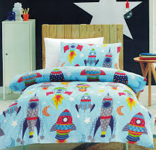 rocket quilt cover set bedding space kids out
