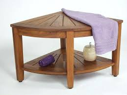 teak corner shower bench teak corner bench teak corner shower seat with shelf