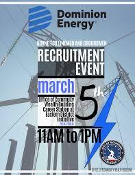 Dominion Energy Organizational Chart Dominion Energy Linemen Recruitment Event Virginia