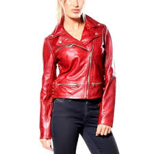moto mustang jacket true religion jackets women red size m
