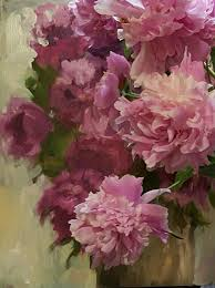 pink peonies with abstract peonie painting by jeannie dolan abstract fl painting available enquiries by wedsite jeanniedolan com peony