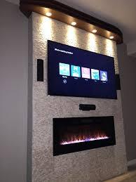 best 25 wall mount electric fireplace ideas on