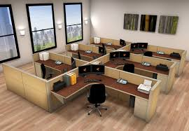 office workstations desks. 6x8 Cubicle Workstations From AIS - 6 Pack Cluster Office Desks
