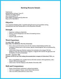 Nice Learning To Write From A Concise Bank Teller Resume Sample How