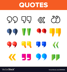 Quotation Marks Inverted Commas Color
