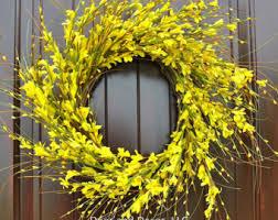 front door wreathYellow wreath  Etsy