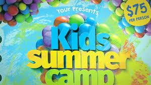 Kids Summer Camp Flyer Template Youtube