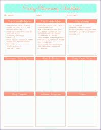 Free Printable Baby Shower Planning Checklist Martha Form