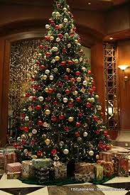 Decorating Christmas Tree With Balls Tradition Christmas Tree With Many Presents Christmas Decoration 3