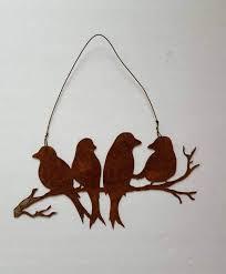 metal wall art rusty metal birds bird