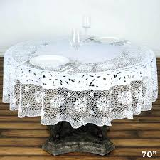 70 round tablecloth x 108 fits what size table inch on 60 102