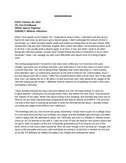 midterm reflection essay memorandum date to ami schiffbauer from  midterm reflection essay memorandum date to ami schiffbauer from mason tilghman subject midterm reflections when i first signed up for english 101 i