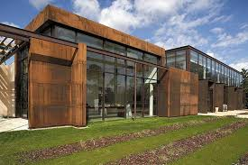 Cor ten steel Weltevree New Headquarters For Eads In Saint Aubin De Médoc france Nippon Steel Sumitomo Metal Corporation Aluminium Framing With The Look Of Corten Steel Products t