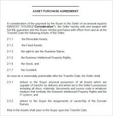 Asset Purchase Agreement Template Ireland Templates Resume