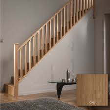 Square Oak 32mm Complete Banister Project Kit | Departments | DIY at B&Q