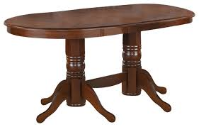 double pedestal dining