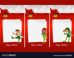 Christmas Note Template Christmas Note Template With Elf Royalty Free Vector Image