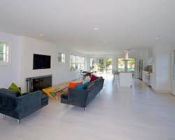 Concept White Washed Wood Floor Coastal Open Living Room Photo In New Inside Design Inspiration