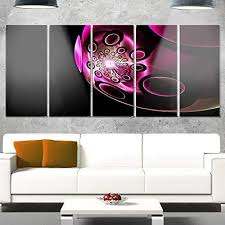fl large abstract art glossy metal