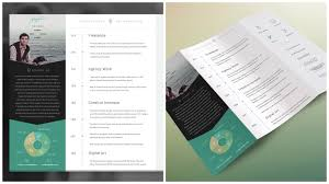 well designed resume examples for your inspiration trifold resume by s1m