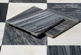 18th Century Italian Antique Black and White Marble Stone Floors