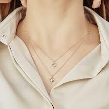14k pink gold mini heart diamond pendant