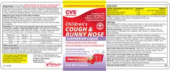 Childrens Plus Cough And Runny Nose Acetaminophen