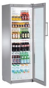 distinguished fridge glass door liebherr fkvsi glass door fridge commercial fridge and
