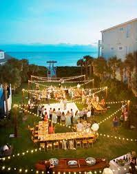 backyard wedding decorations garden