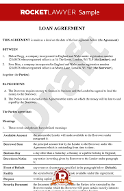 Loan Repayment Contract Free Template Adorable Loan Agreement Loan Contract Loan Agreement Template