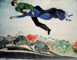over the town 1918 marc chagall