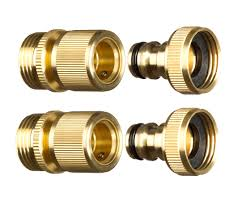 gorilla easy connect 3 4 npt br quick connect garden hose ing 2pc set male and female 200 psi of pressure easy to connect especially for those with