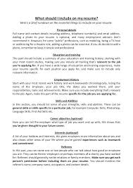 what should your resume title be what should i include on my resume a brief  rundown