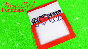I Love You Crafts Diy Magic Card Paper Craft Valentines Card I Love You Youtube