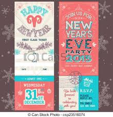 Invitation Ticket Template Inspiration New Year's Eve Party Invitation Ticket New Year's Eve Party