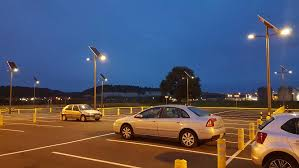 Do Solar Lights Have Batteries In Them Solar Lighting Secures The Parking Of An Industrial Site In