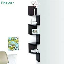 corner shelving unit 5 tier floating wall corner shelf unit wall mounted shelving bookcase storage corner