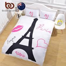 bedding black eiffel tower bedding set super soft duvet cover with pillowcases white background quilt cover au single duvet cover bedding set eiffel