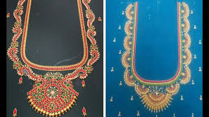 Saree Blouse Hand Work Designs Traditional Aari Embroidery Work Blouse Design 2018 Silk Saree Blouse Neck Designs Aari Hand Work