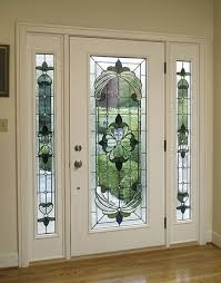 art glass front doors with with white glass front doors