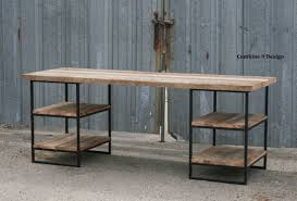 custom wood office furniture. reclaimed wood desk oak with shelves industrial steel custom dimensionsconfigurations office furniture k