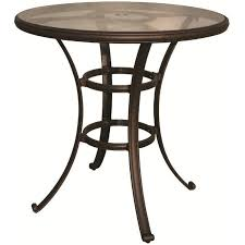 Darlee 40 Round Patio Pub Table With Glass Top In Antique Bronze Beauteous Darlee Patio Furniture Minimalist