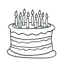 Cake Coloring Page Birthday Pages Sheets With Additional Happy Sheet