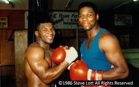 Mike Tyson and Tyrell Biggs Meet in Houston – Boxing Hall of Fame