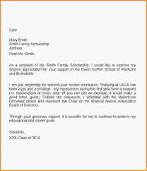 scholarship thank you letter template medical school scholarship thank you letter