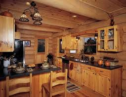 rustic cabin kitchen cabinets with black countertopini dinning table and chairs classic lamp decor