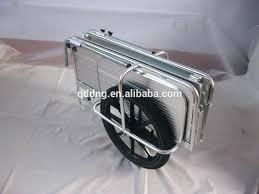 folding garden cart. Folding Garden Cart With Wheels Double Wheeled Aluminium Hand .