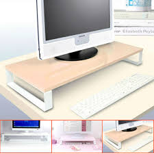 awesome for monitor and keyboard glass lcd stand desktop bath computer stand for desk designs