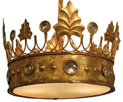 jeweled crown hanging pendant light ornate gold royal princess decor victorian pendant lighting by my sy home