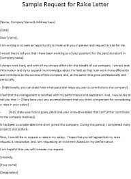 Raise Request Letter Template How To Ask For Pay Raise Sample Letter 3 Proto Politics
